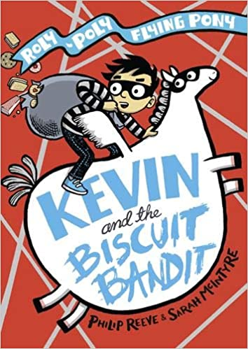Keven and the Biscuit Bandit, Flying Pony, Humour, Illustrations, Boy, Pony, Letters on Belly, Roly-Poly Flying Pony, Philip Reeve, Sarah McIntyre, Red, Funny, Children's Books, Fantasy, Biscuits