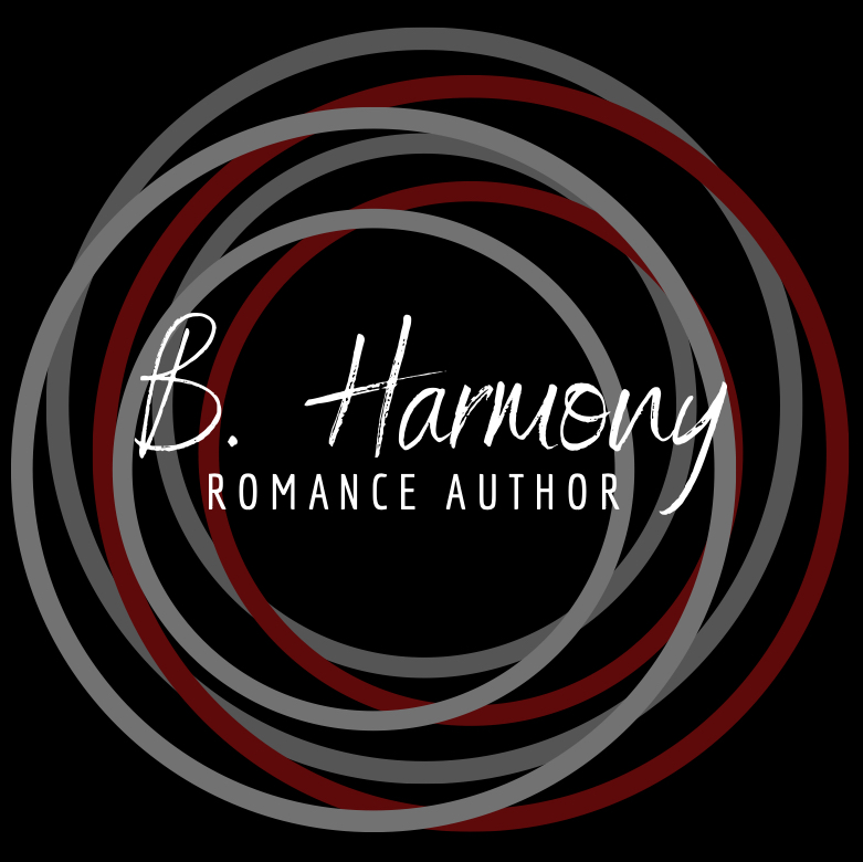 B. Harmony, Circles, Black, Gray, Red, Author, Logo