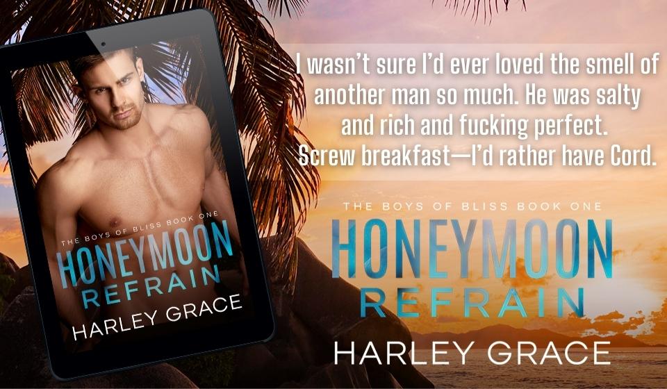 Honeymoon Refrain, Harley Grace, LGBT, Romance, Sex, Rockstar, Music, Famous, Honeymoon, Sunset, Palm trees, Half-naked man, Teaser