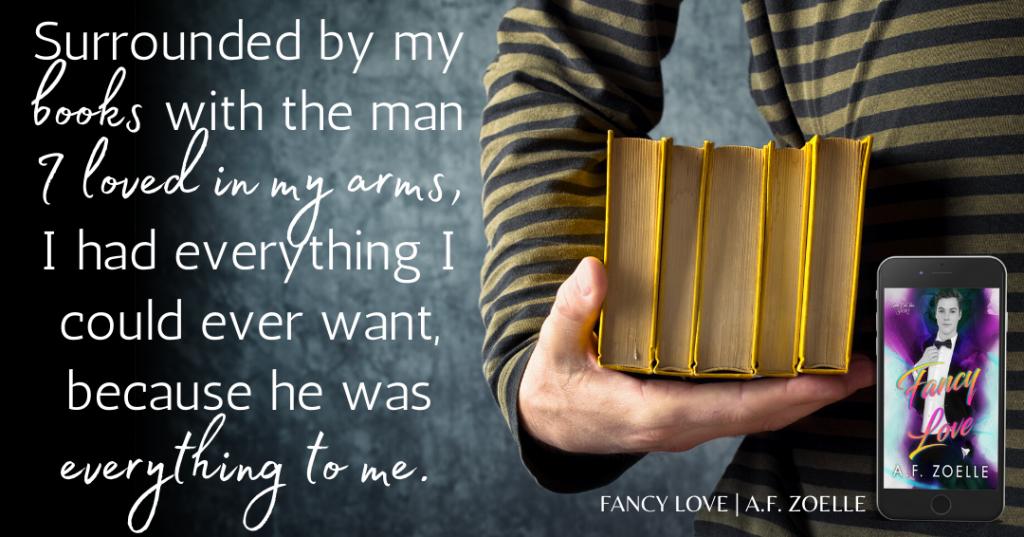 Fancy Love, A.F. Zoelle, LGBT, Purple, Suit, Man, Romance, LGBT, Sex, Dual POV, Books,