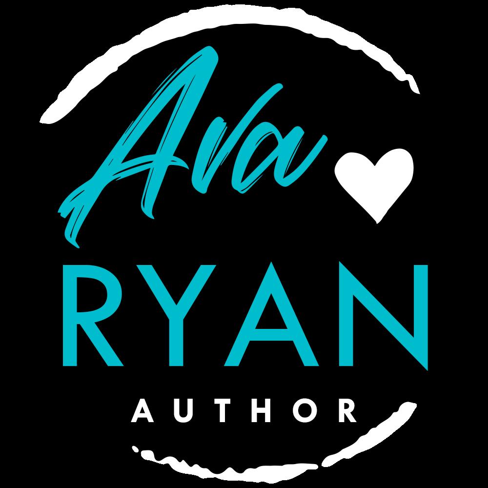 Ava Ryan, Author, Logo, Blue, Heart
