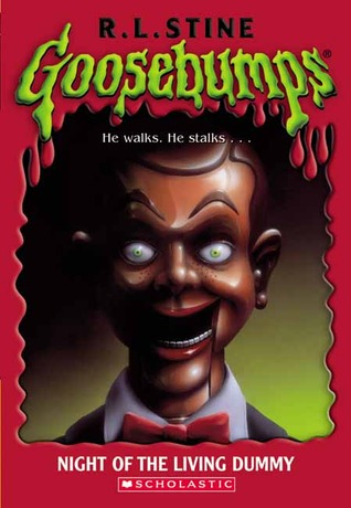 Night of the Living Dummy, Goosebumps, R.L. Stine, Puppet, Horror, Scary, Red, Green, Tuxedo, Children's Books
