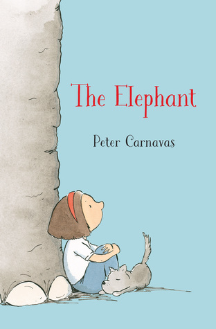 The Elephant, Elephant, Depression, Dog, Girl, Blue, Red Letters, Depression, Loss, Mourning, Single Parenting, Grandparents, Paper Planes, School, Friendship, Peter Carnavas