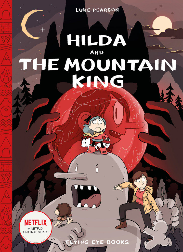 Hilda and the Mountain King, Trolls, Hilda, Graphic Novel, Luke Pearson, Red, Moon, Mountain, Folklore, Adventure, Fantasy