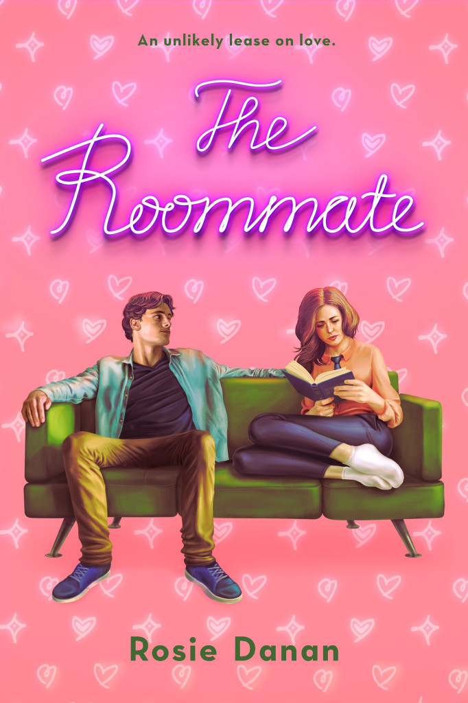 The Roommate, Rosie Danan, Romance, Pink, Couch, Woman, Reading, Man, Roommates, A LOT OF PINK