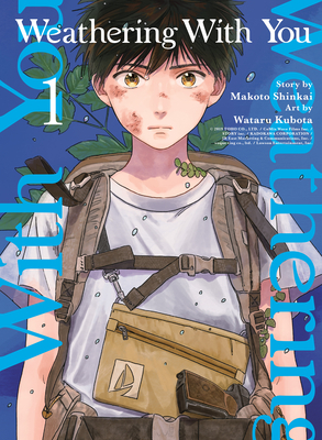 Weathering With You, Vol. 1, Makoto Shinkai, Wataru Kubota, Blue, Boy, Bag, Bruises, Rain, Weather, Sunshine Girl, Young Adult, Manga, Fantasy, Run-away, Manga, Mystery