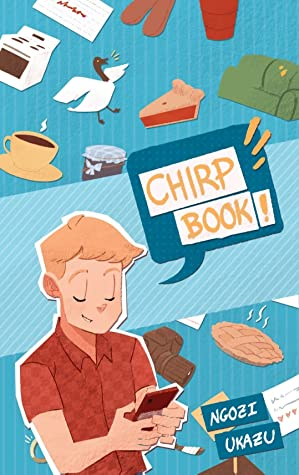 Check Please! Chirpbook, Check Please, University, Tweets, Bittle, Guy, Oven, Goose, Pie, Cup of Coffee/Tea, Cakes, Couch, Red shirt, Humour, Twitter, Funny, Hockey, Sports, University, Blue, Ngozi Ukazu