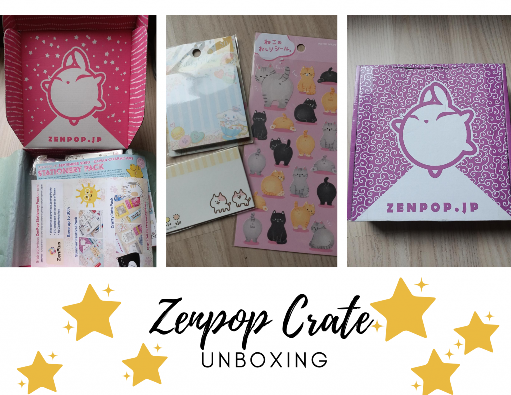 Zenpop, Zenpop Stationery, Crate, Unboxing, Tape, Pens, Stars