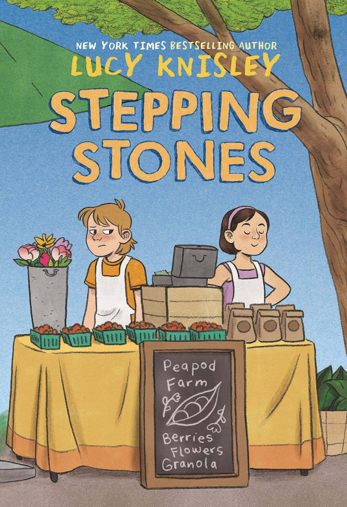 Stepping Stones, Peapod Farm, Farm, Abuse, Girls, Stall, Stand, Tree, Fruit, Bags, Flowers, Graphic Novel, Divorce, Stepfather, Stepsisters, Children's Books, Frustrating Story, Based on a Real Story, Animals, Lucy Knisley