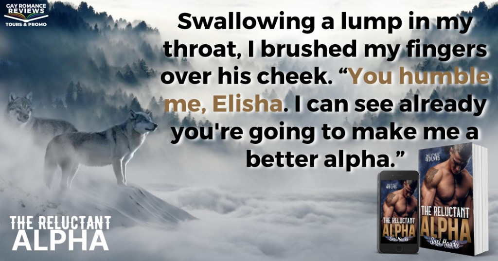 The Reluctant Alpha, Blue, Half-naked, Pregnancy, Romance, LGBT, Shifters, Wolves, Susi Hawke, West Coast Wolves, Mist, Forest, Nature