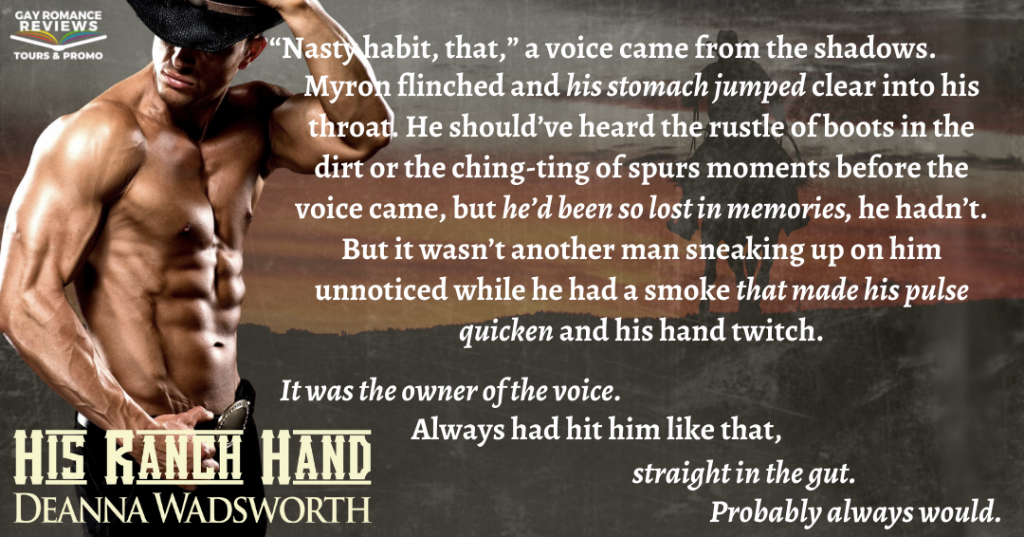 Deanna Wadsworth, Teaser, His Ranch Hand, Half-naked Man, Cowboy, Horses, Ranches, Sunset, LGBT, Romance,