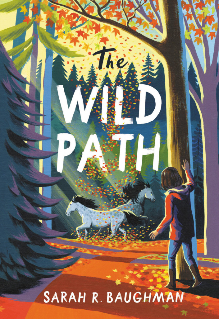 The Wild Path, Orange, Fall, Forest, Horses, Girl, Therapy, Family, Horse, Equine Therapy, Banner Sarah R. Baughman