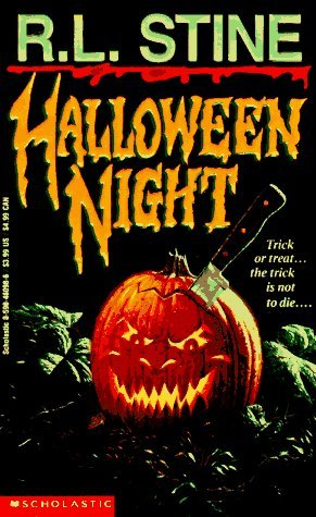 Halloween Night, Book 1, Murder, Knife, Pumpkin, Carved Pumpkin, Yellow/Orange Font, Young Adult, Halloween, Horror, Thriller, R.L. Stine