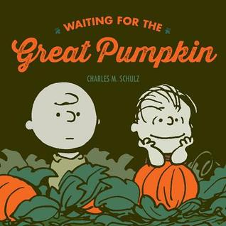 Waiting For The Great Pumpkin, Charlie Brown, Linus van Pelt, Pumpkins, Leaves, Orange Font, Comics, Funny, Fun, Charles M. Schulz