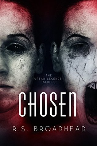 Chosen, faces, horror, black eyes, Paranormal, horror, red, black, Urban Legends #1, R.S. Broadhead