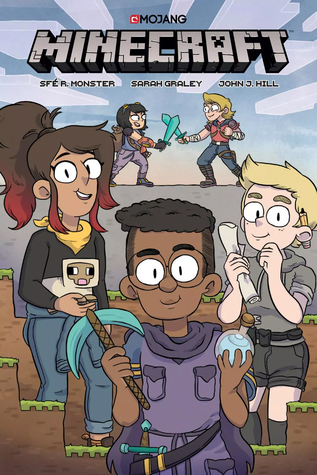 Minecraft, Volume 1, Sfé R. Monster, Sarah Graley, Boys, Girls, Fighting, Minecraft Game, Gaming, Friendship, Clouds, Graphic Novel, Adventure, Magic, Colourful
