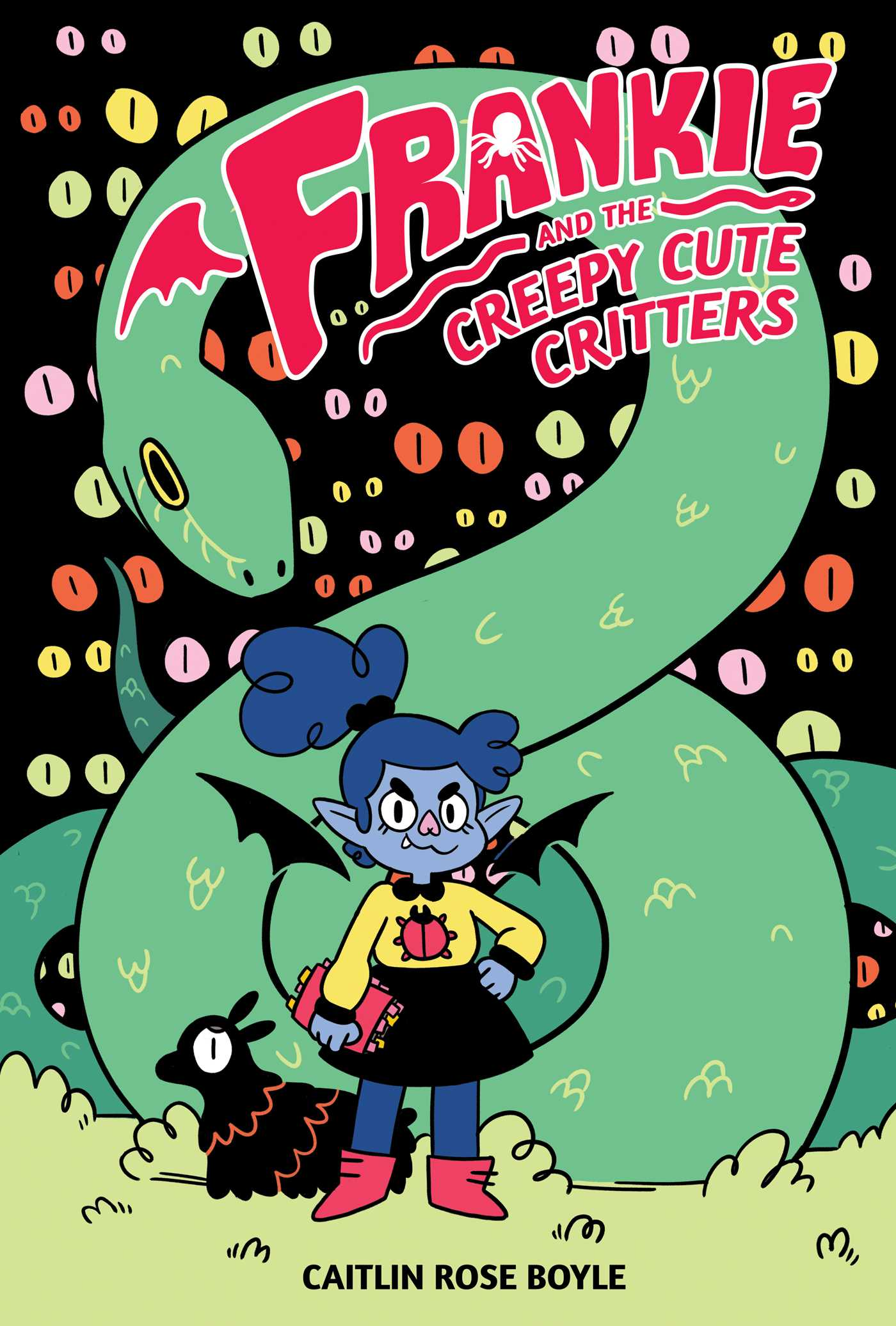Frankie and the Creepy Cute Critters, Caitlin Rose Boyle, Green, Eyes, Snake, Girl, Wing, Faerie, Pet, Animals, Red Letters, Graphic Novel, Cute, Animals, Field Guide, Fantasy