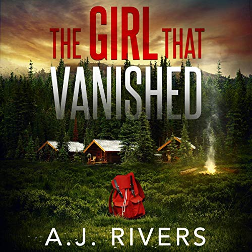 Backpack, Red/White Letters, Emma Griffin FBI, THE GIRL IN CABIN 13, THE GIRL THAT VANISHED, Mystery, Murder, Cabins, Fire, Forest, Woods, Secrets, Disappearances, Truths, Clues, FBI, Police