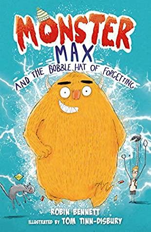 Monster Max and the Bobble Hat of Forgetting, Blue, Monster, Yellow Monster, Monsters, Boy, Cat, Lightning, Children's Books, Fantasy, Robin Bennett, Tom Tinn-Dinsbury
