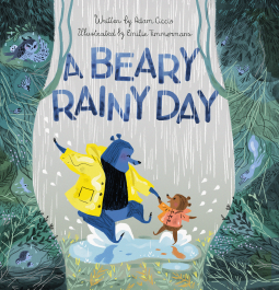 A Beary Rainy Day, Rain, Dancing Bears, Puddles, Forest, Trees, Plants, Animals, Fun, Children's Books, Picture Book, Bears, Adam Ciccio, Emilie Timmermans