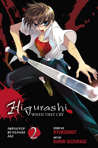 Higurashi no Naku Koro Ni, White Shirt, Red Top, Dark, Blood, Manga, Horror, Brown Hair, Bat, Keiichi