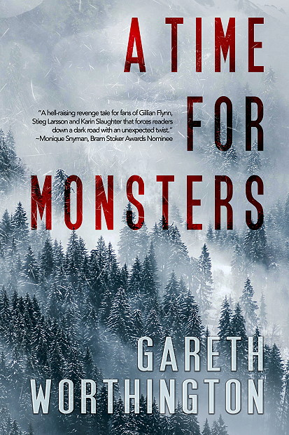 Trees, Mist, Red Letters, Snow, A Time For Monsters, Gareth Worthington, Murder, Music, Mystery