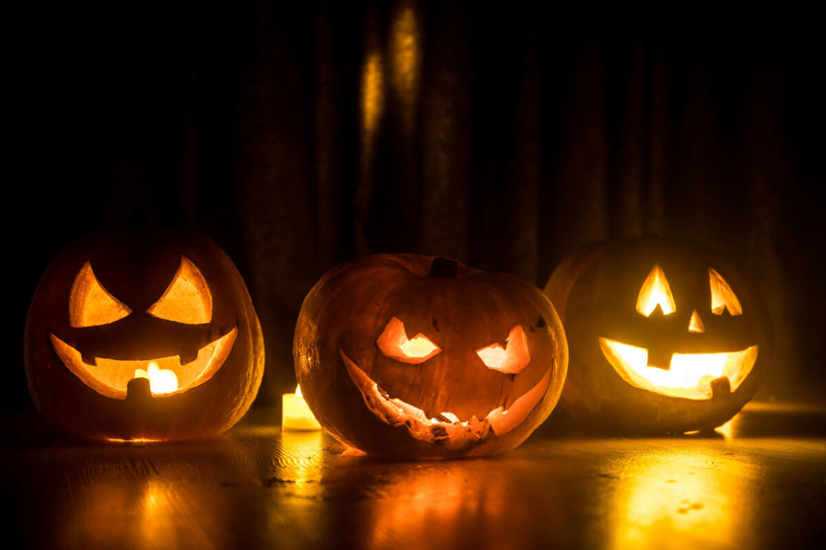 Pumpkins, Dark, Light, Halloween