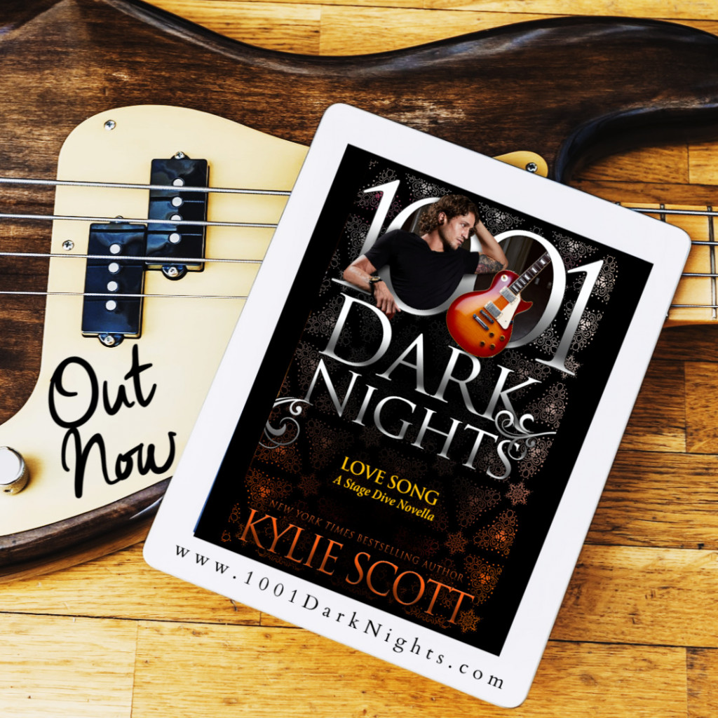 Love Song, Kylie Scott, 1001 Dark Knight, Guitar, Guy, Floor, Wood, Tablet, Romance, Music, Fame,
