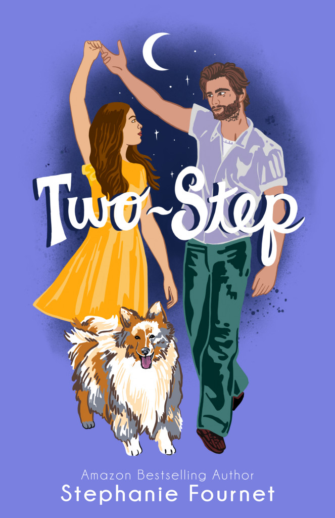 Purple, Woman, Yellow Dress, Moon, Man, Green Pants, White Shirt, Dog, Lassie, Stephanie Fournet, Two Step, Dancing, Cute, Romance, Dual POV, TV-Show, Dancing