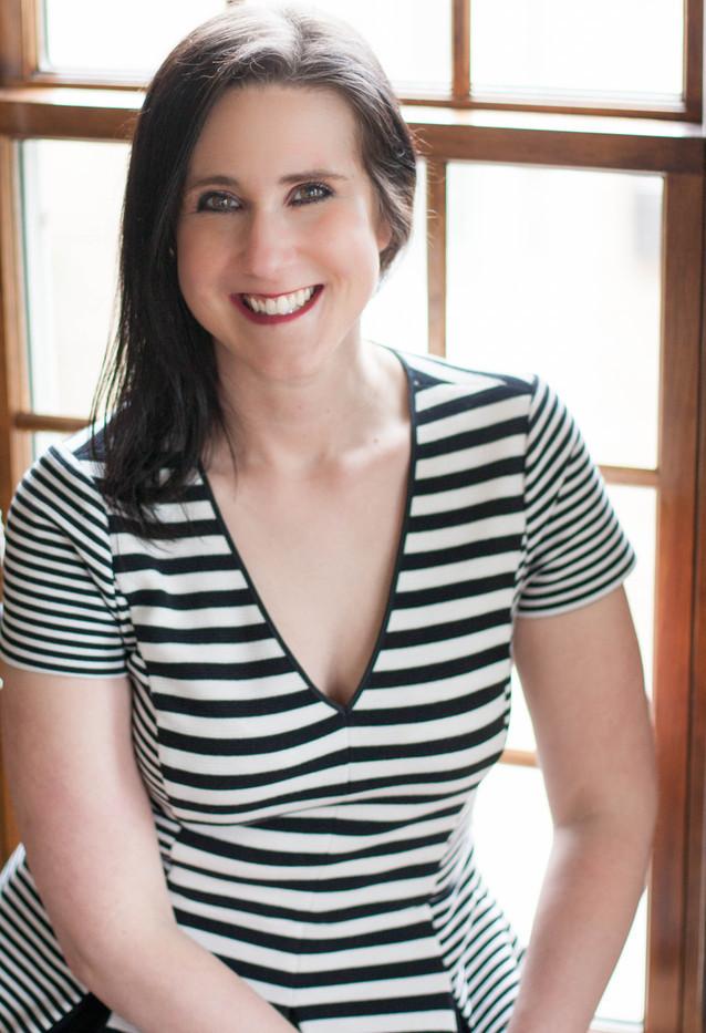 Julia Hammerle, Window, Striped Shirt, Brown Hair, Author, Photograph