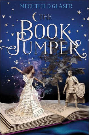 The Book Jumper, Mechtild Gläser, Blue, Book, Pages, Girl, Dress, Stars, Knight, Shield, Fantasy, Romance, Young Adult, Magic