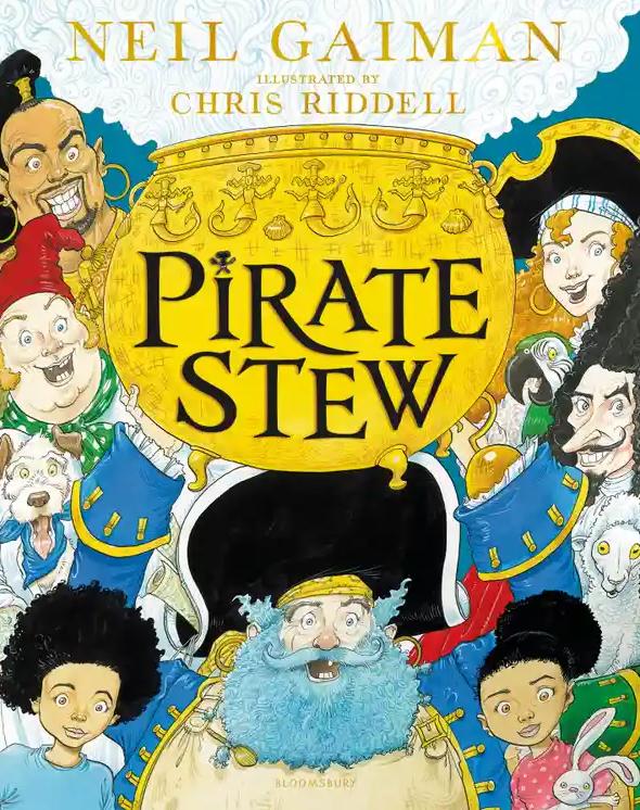 Pirate Stew, Pirates, Men, Women, Children, Children's Books, Pot, Golden Pot, Smoke, Neil Gaiman, Chris Riddell, Picture Books, Fantasy, Pirates
