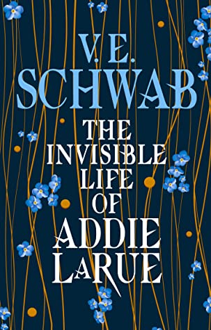 The Invisible Life of Addie LaRue, V.E. Schwab, Blue, Flowers, Strings, Fantasy, Historical Fiction, Romance, LGBT,