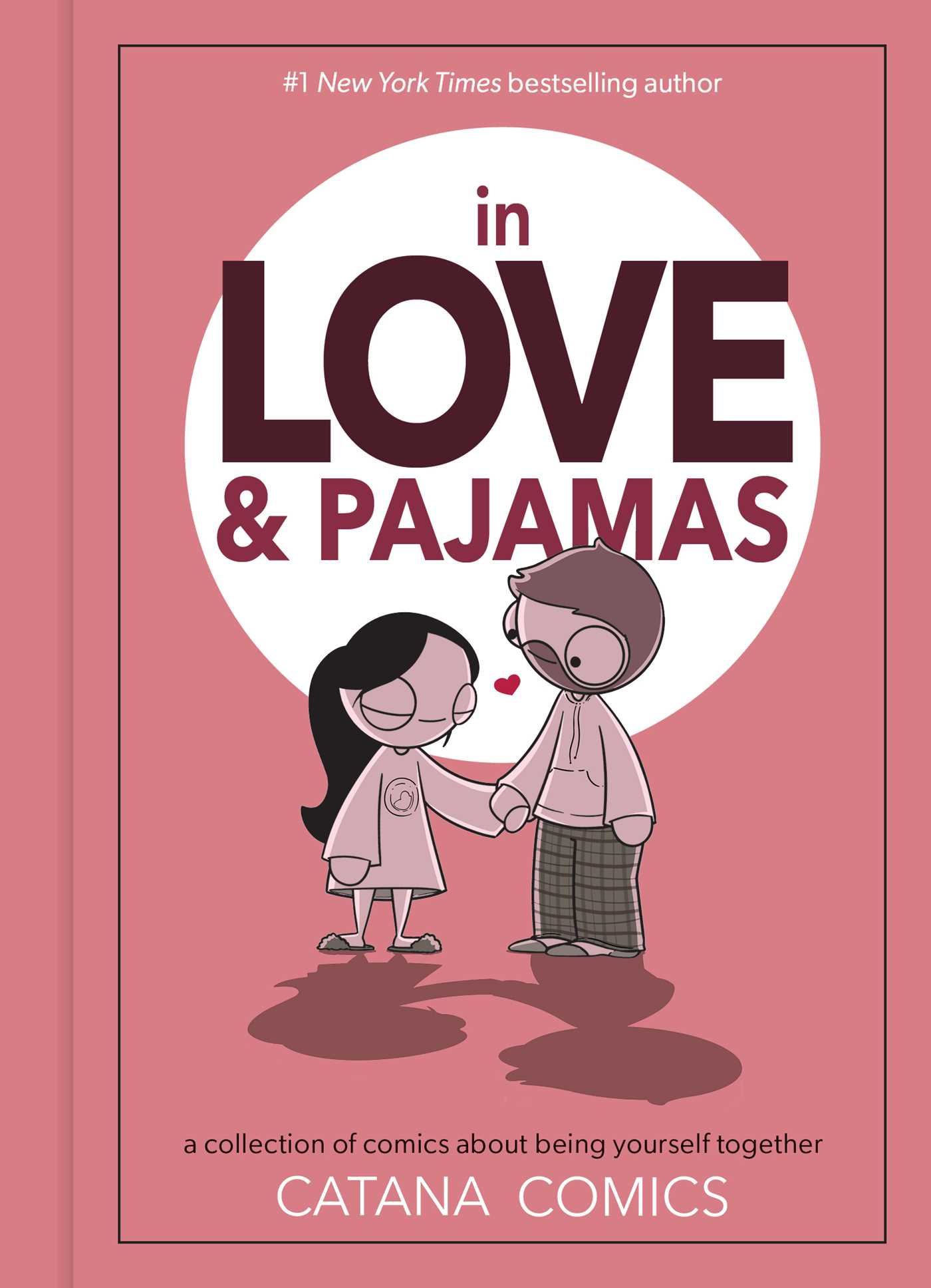 In Love & Pajamas: A Collection of Comics about Being Yourself Together, Red/Pink, Man, Woman, Love, Shadows, Comics, Humour, Relationship, Romance, Catana Chetwynd