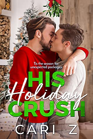 His Holiday Crush, Cari Z, Pajamas, Two Men, Kissing, Holiday, Mistletoe, Christmas, LGBT, M/M Romance, Cute,