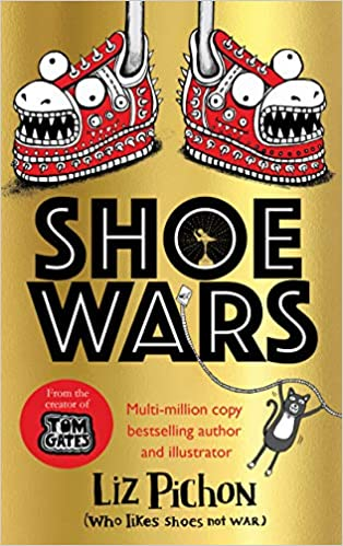Golden, Shoes, Monster, Liz Pichon, Shoe Wars, Illustrations, Humour, Shoes, Children's Books, Brother/Sister, Family, Inventions, Inventor, Kidnapping, Competition, Award