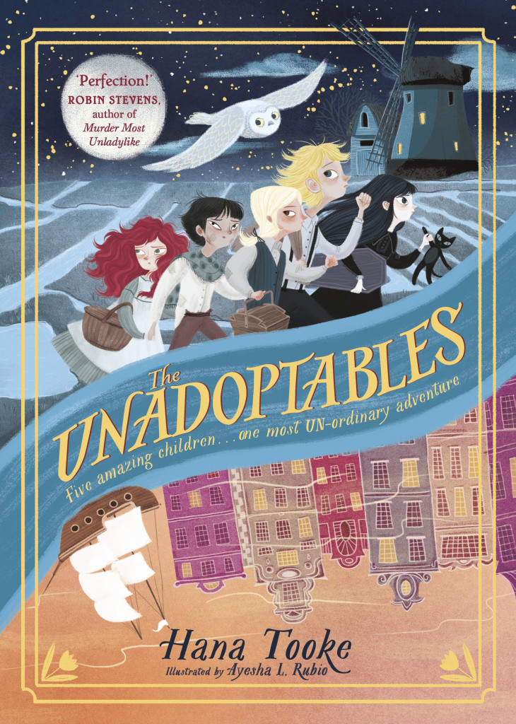 The Unadoptables, Hana Tooke, Ayesha L. Rubio, Children, Boys, Girls, Sea, Bird, Boat, Houses, Children's Books, HIstorical Fiction, Adventure, Orphans, Mystery, Fantasy