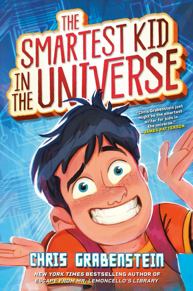 The Smartest Kid in the Universe, Chris Grabenstein, Blue, Face, Boy, Humour, Children's Books, Friendship, Treasure, Jellybeans, Family,