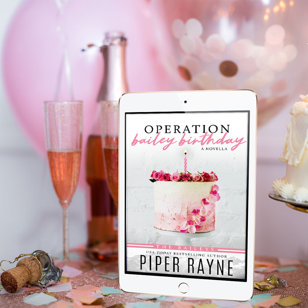 Operation Bailey, Baileys, Pink Balloon, Drinks, Party, Romance, Family, Piper Rayne