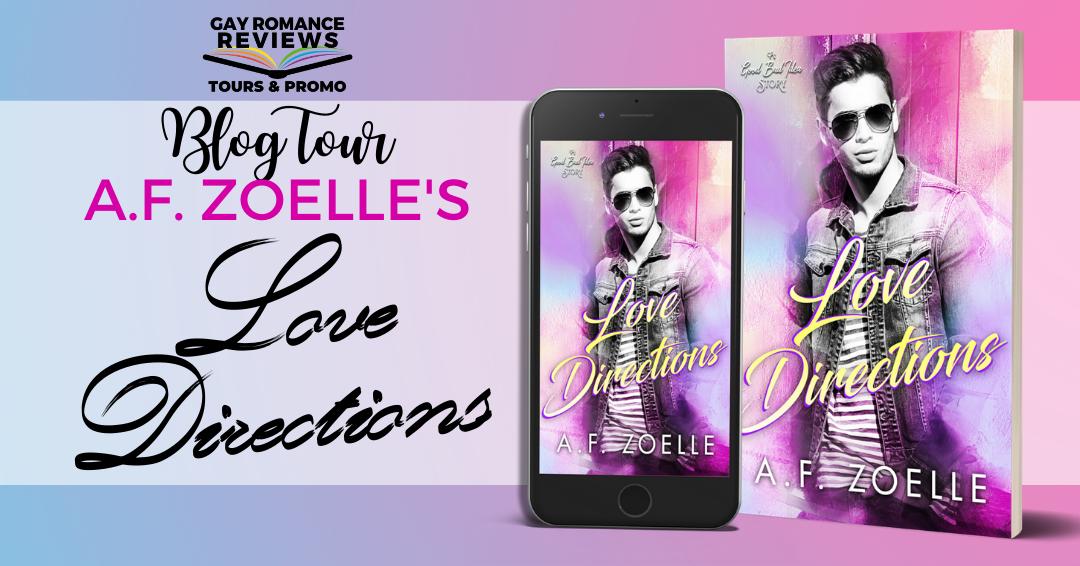 Pink, Blue, Purple, Love Directions, A.F. Zoelle, LGBT, Romance, Man, Sunglasses, Jacket