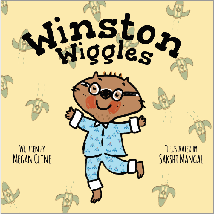 Winston Wiggles, Megan Cline, Sakshi Mangal, Wiggling, Pajamas, Yellow, Wombat, Glasses, Children's Books, Excitement, Field Trip, Animals, Picture Book