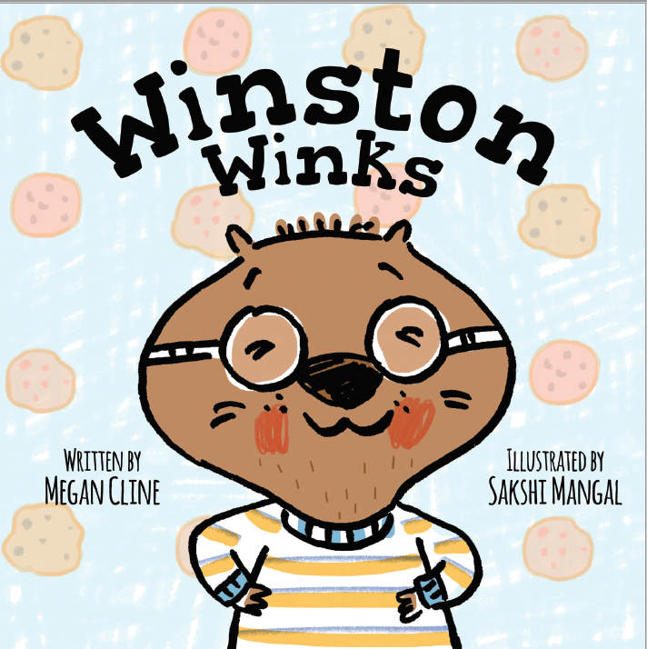 Winston Winks, Megan Cline, Sakshi Mangal, Picture Book, Children's Books, Wombat, Winking, Gold, Silver, Cookies, Glasses, Sweater