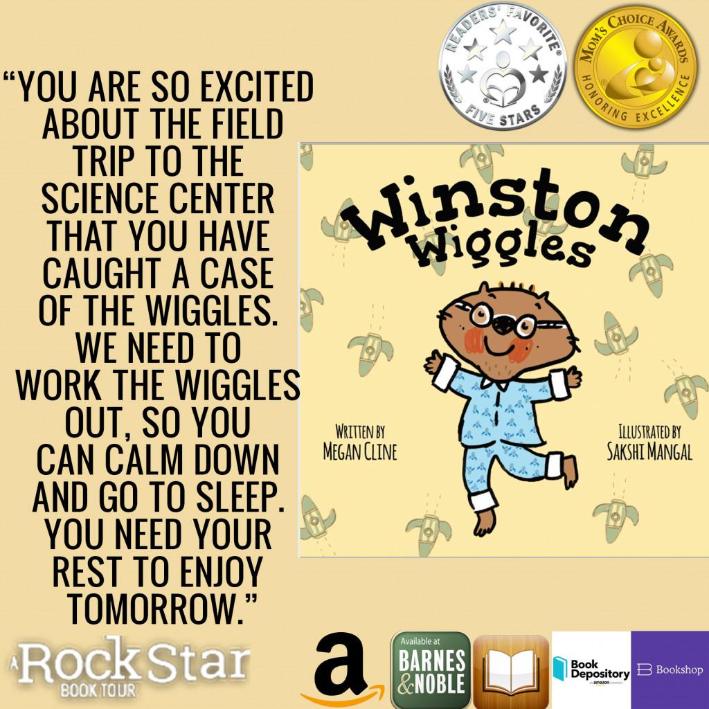 Winston Wiggles, Megan Cline, Sakshi Mangal, Wiggling, Pajamas, Yellow, Wombat, Glasses, Children's Books, Excitement, Field Trip, Animals, Picture Book, Excerpt