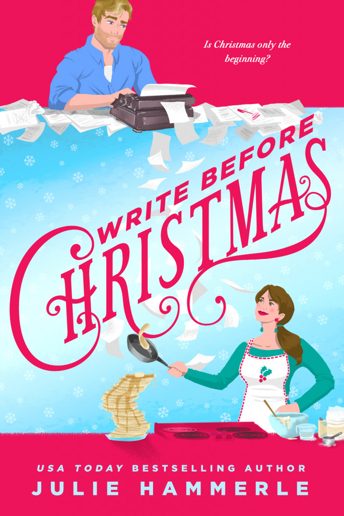 Write Before Christmas, Pink, Blue, Typing machine, Book, Julie Hammerle, Romance, Christmas, Holidays, TV, Divorce, Woman, Cooking