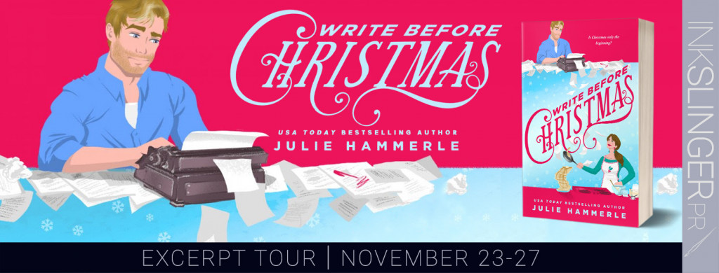 Write Before Christmas, Pink, Blue, Typing machine, Book, Julie Hammerle, Romance, Christmas, Holidays, TV, Divorce