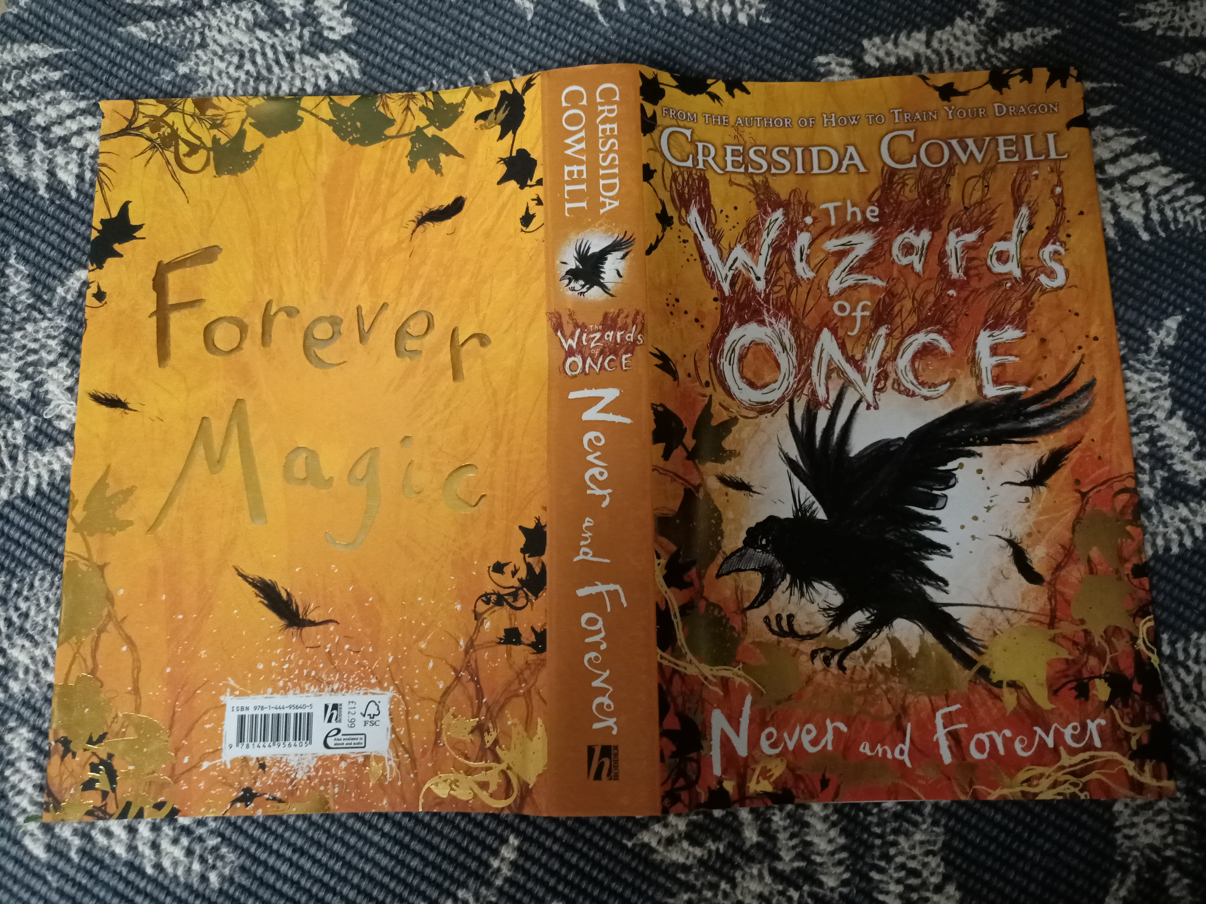 The Wizards of Once: Never and Forever: Book 4, Wizards of Once, Orange, Yellow, Leaves, Crow, Magic, Children's Books, Quest, Journey, Friendship, Adventure, Cressida Cowell