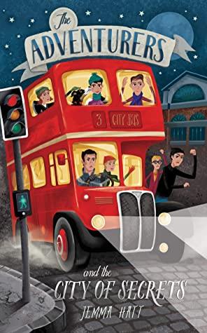 The Adventurers and the City of Secrets, The Adventurers, Book 3, Doubledecker, traffic light, People, Stars, Building, Adventure, Mystery, Children's Books, Jemma Hatt