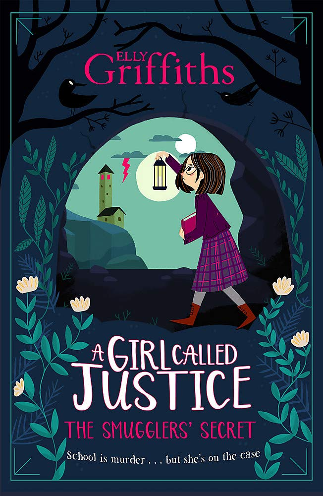 A Girl Called Justice: The Smugglers' Secret, Justice Jones, Book 2, Girl, Lantern, Clouds, Lightning, Lighthouse, Boarding School, Mystery, Murder, Children's Books, Elly Griffiths