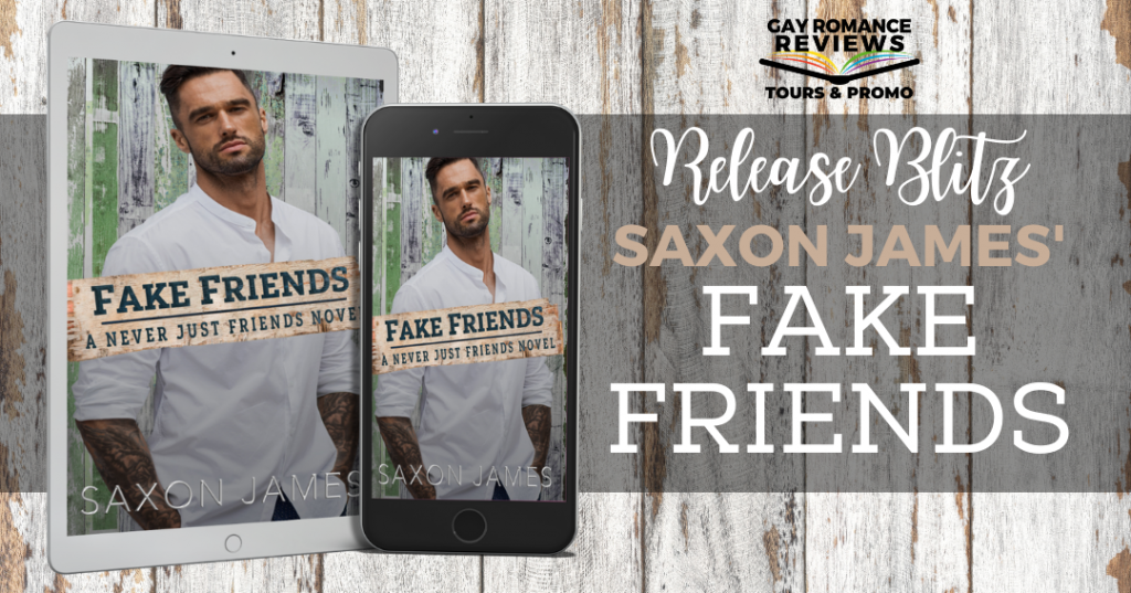 Fake Friends, Saxon James, Gray, Wood, Man, Kindle, Book, Romance, LGBT