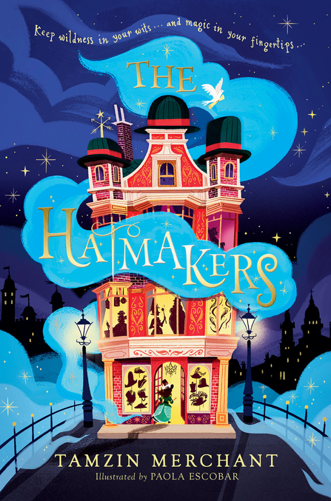 The Hatmakers, Tamzin Merchant, Blue, Smoke, House, Lantern, Children's Books, Cover Love, Fantasy, Magic, Family